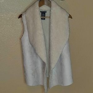 Chelsea and Theodore Faux suede vest